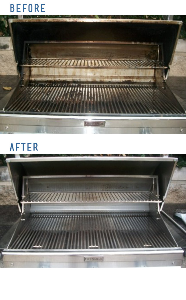 Before and After BBQ Grill Cleaning